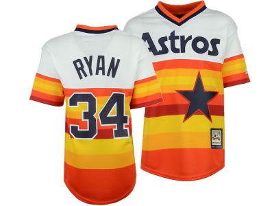 85033f134 Houston Astros Nolan Ryan Majestic MLB Youth Cooperstown Player Jersey