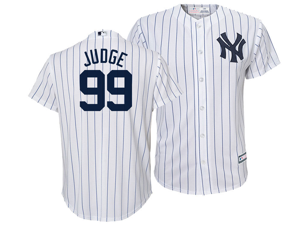 New York Yankees Aaron Judge Majestic MLB Youth Player Replica Cool Base  Jersey  fa8c4120793