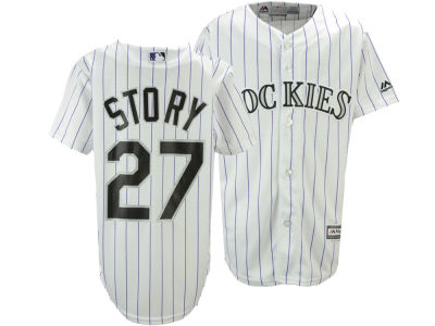 Colorado Rockies Trevor Story Majestic MLB Youth Player Replica Cool Base Jersey