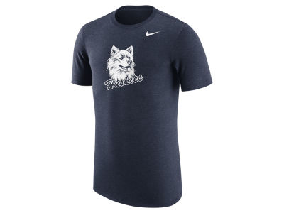 Connecticut Huskies Nike NCAA Men's Vault Logo Tri-Blend T-Shirt