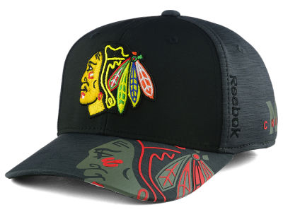 Chicago Blackhawks Reebok 2017 NHL Playoff Flex Cap