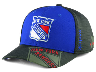 New York Rangers Reebok 2017 NHL Playoff Flex Cap