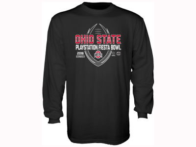 Ohio State Buckeyes Fiesta Bowl NCAA Men's College Football Playoff Bound Spiral Stripe Long Sleeve T-Shirt
