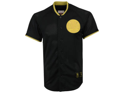 Golden State Warriors Mitchell & Ness NBA Men's Seasoned Pro Mesh Button Jersey