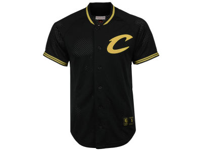 Cleveland Cavaliers Mitchell & Ness NBA Men's Seasoned Pro Mesh Button Jersey