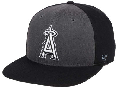Los Angeles Angels '47 MLB Black Sure Shot Accent Snapback Cap