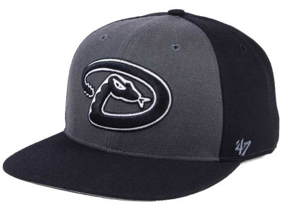 Arizona Diamondbacks '47 MLB Black Sure Shot Accent Snapback Cap