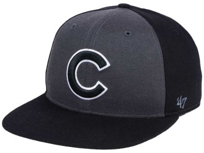 Chicago Cubs '47 MLB Black Sure Shot Accent Snapback Cap
