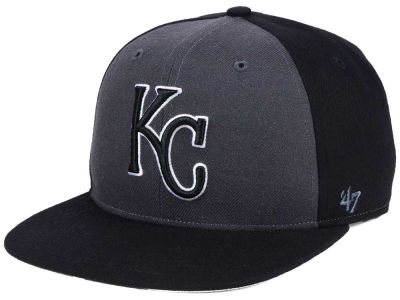 Kansas City Royals '47 MLB Black Sure Shot Accent Snapback Cap