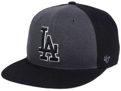 Los Angeles Dodgers '47 MLB Black Sure Shot Accent Snapback Cap