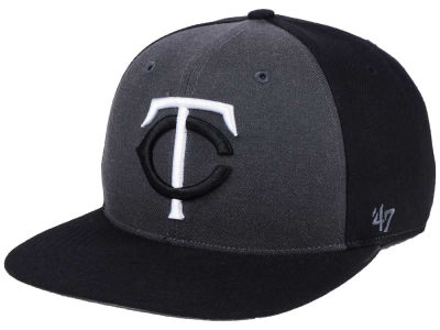 Minnesota Twins '47 MLB Black Sure Shot Accent Snapback Cap