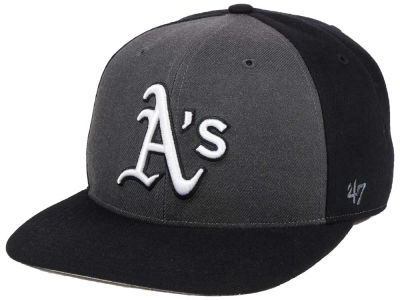 Oakland Athletics '47 MLB Black Sure Shot Accent Snapback Cap