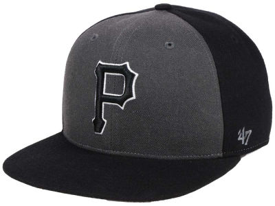 Pittsburgh Pirates '47 MLB Black Sure Shot Accent Snapback Cap