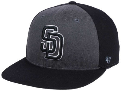San Diego Padres '47 MLB Black Sure Shot Accent Snapback Cap