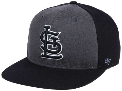 St. Louis Cardinals '47 MLB Black Sure Shot Accent Snapback Cap