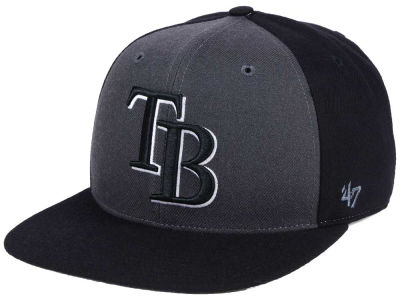 Tampa Bay Rays '47 MLB Black Sure Shot Accent Snapback Cap