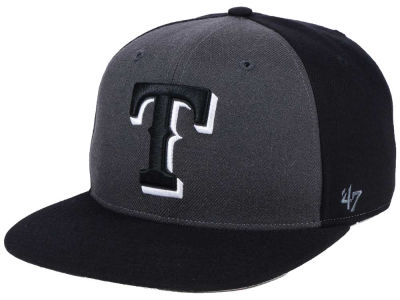 Texas Rangers '47 MLB Black Sure Shot Accent Snapback Cap