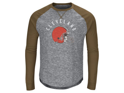Cleveland Browns Majestic NFL Men's Corner Blitz Raglan Long Sleeve T-Shirt