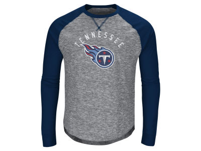 Tennessee Titans Majestic NFL Men's Corner Blitz Raglan Long Sleeve T-Shirt