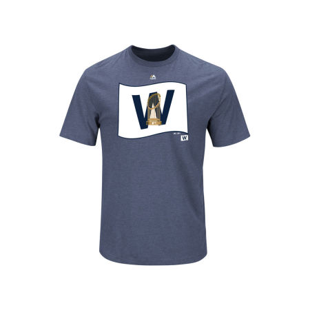 Chicago Cubs Majestic MLB 2016 Men's World Series Champs W Trophy T-Shirt