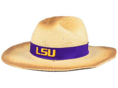 LSU Tigers Top of the World NCAA Outlaw Cowboy Straw Hat