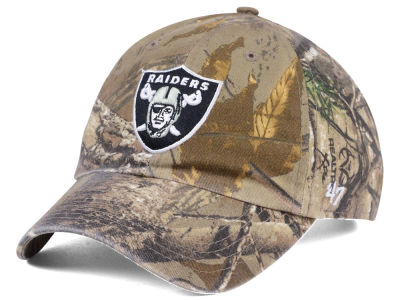 Oakland Raiders '47 NFL Realtree '47 CLEAN UP Cap