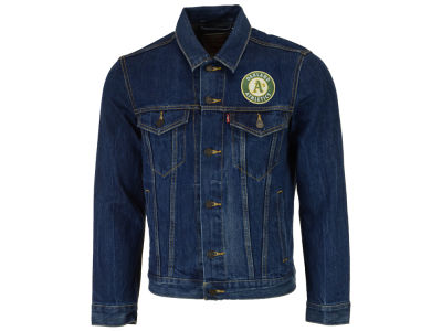 Oakland Athletics Levi's MLB Men's Denim Trucker Jacket