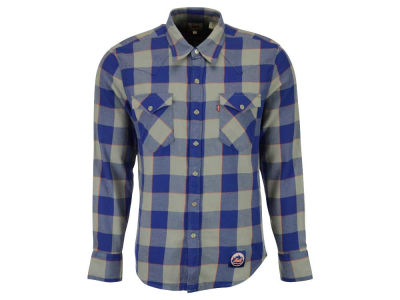New York Mets Levi's MLB Men's Levis Buffalo Western Shirt