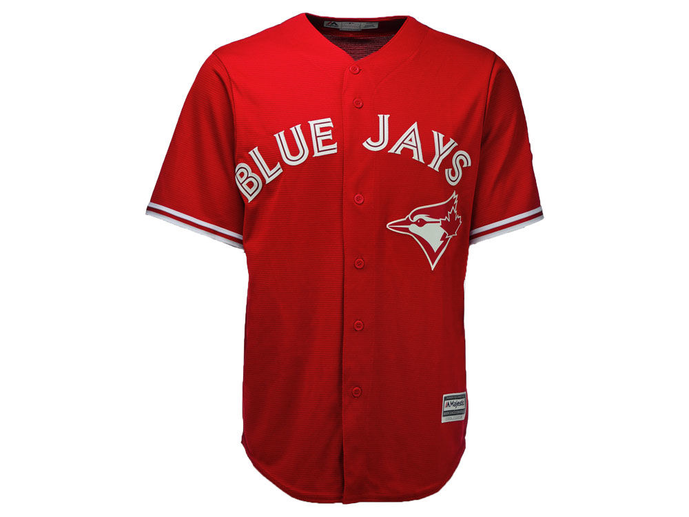 Free Shipping Blue Jays Blank Red New Cool Base Canada Day