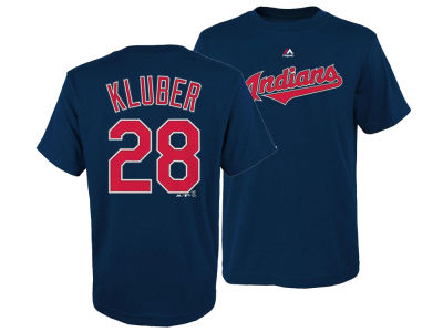 Cleveland Indians Corey Kluber Majestic MLB Youth Official Player T-Shirt