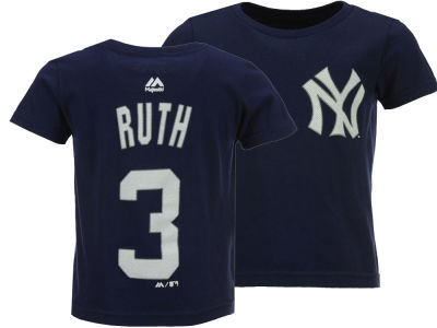 New York Yankees Babe Ruth Majestic MLB Toddler Official Player T-Shirt