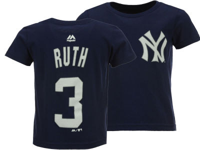 New York Yankees Babe Ruth Majestic MLB Kids Official Player T-Shirt