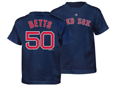 Boston Red Sox Mookie Betts Majestic MLB Kids Official Player T-Shirt