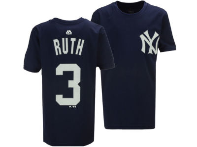 New York Yankees Babe Ruth Majestic MLB Youth Poly Player T-Shirt