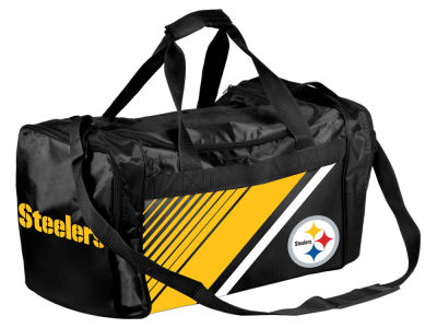Pittsburgh Steelers Border Stripe Duffle Bag