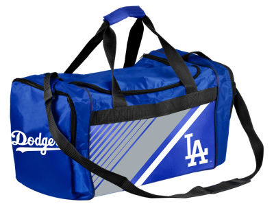Los Angeles Dodgers Forever Collectibles Border Stripe Duffle Bag
