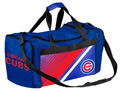 Chicago Cubs Border Stripe Duffle Bag