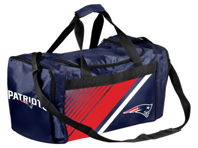 New England Patriots Border Stripe Duffle Bag
