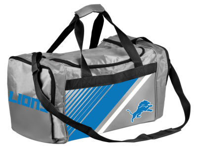 Detroit Lions Forever Collectibles Border Stripe Duffle Bag