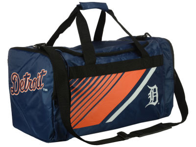Detroit Tigers Border Stripe Duffle Bag