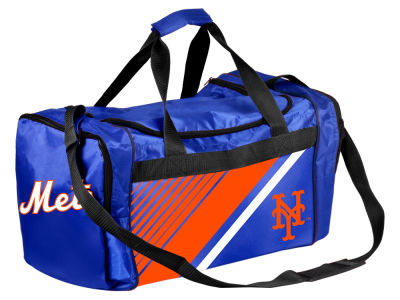 New York Mets Border Stripe Duffle Bag
