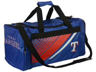 Texas Rangers Forever Collectibles Border Stripe Duffle Bag