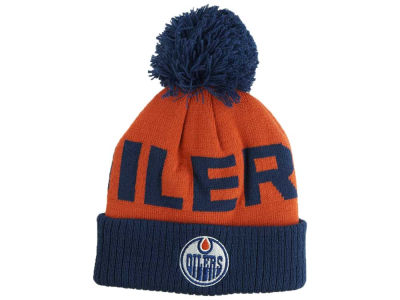 Edmonton Oilers Outerstuff NHL Toddler Cuffed Pom Knit