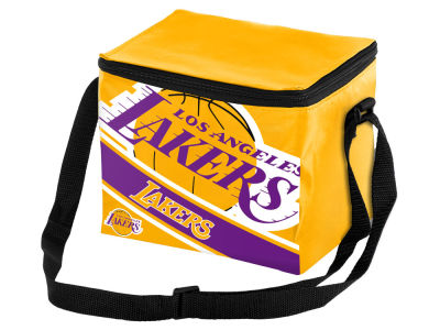 Los Angeles Lakers 6-pack Big Logo Stripe Lunch Cooler