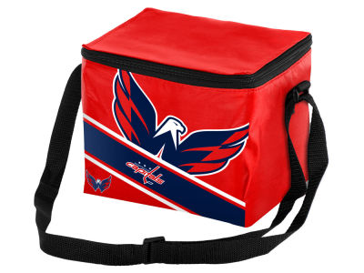 Washington Capitals 6-pack Big Logo Stripe Lunch Cooler