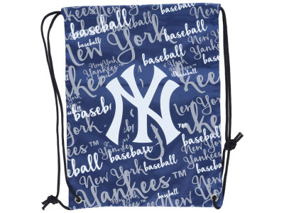 New York Yankees Forever Collectibles Women's Script Drawstring Backpack