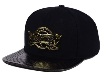 Cleveland Cavaliers Pro Standard NBA Black on Gold Metal Strapback Cap