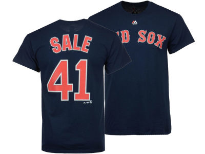 Boston Red Sox Chris Sale Majestic MLB Men's Official Player T-Shirt