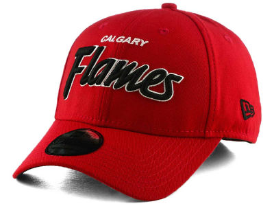 Calgary Flames New Era NHL Script Sign 39THIRTY Cap