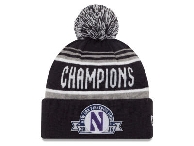 Northwestern Wildcats New Era NCAA 2016 Pinstripe Bowl Champs Knit